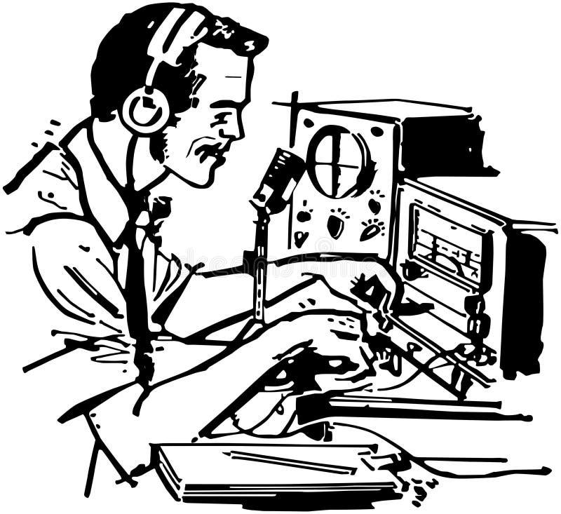 Baleronu Radiowy operator royalty ilustracja
