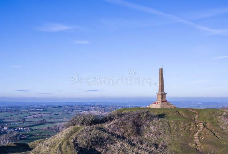 Baleronu wzgórza Wojenny pomnik fotografia stock