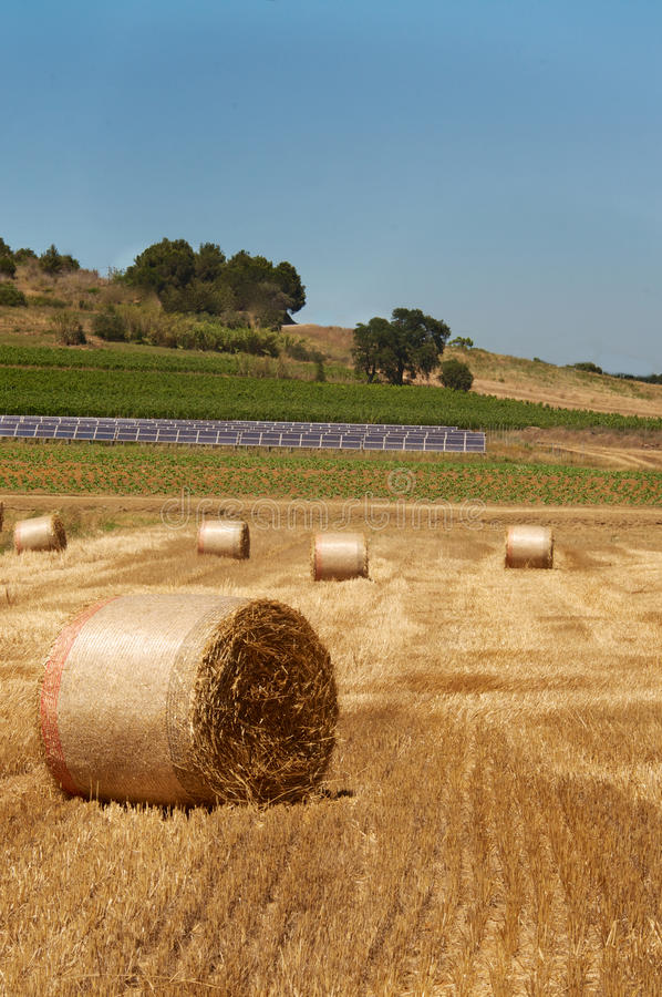 Bales and panels stock photography