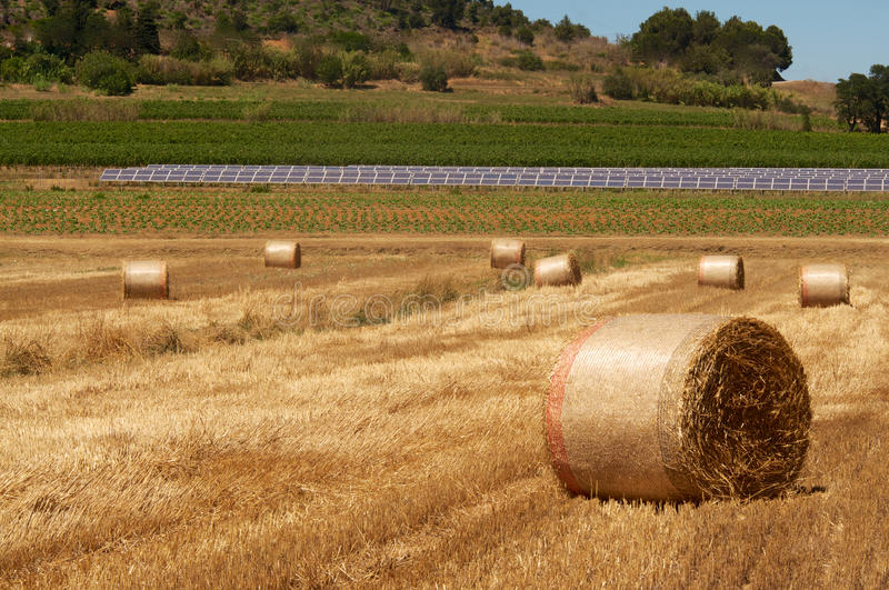 Bales and panels royalty free stock photography