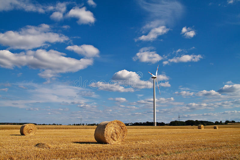 Download Bales of straw stock image. Image of energy, farm, wind - 13099365