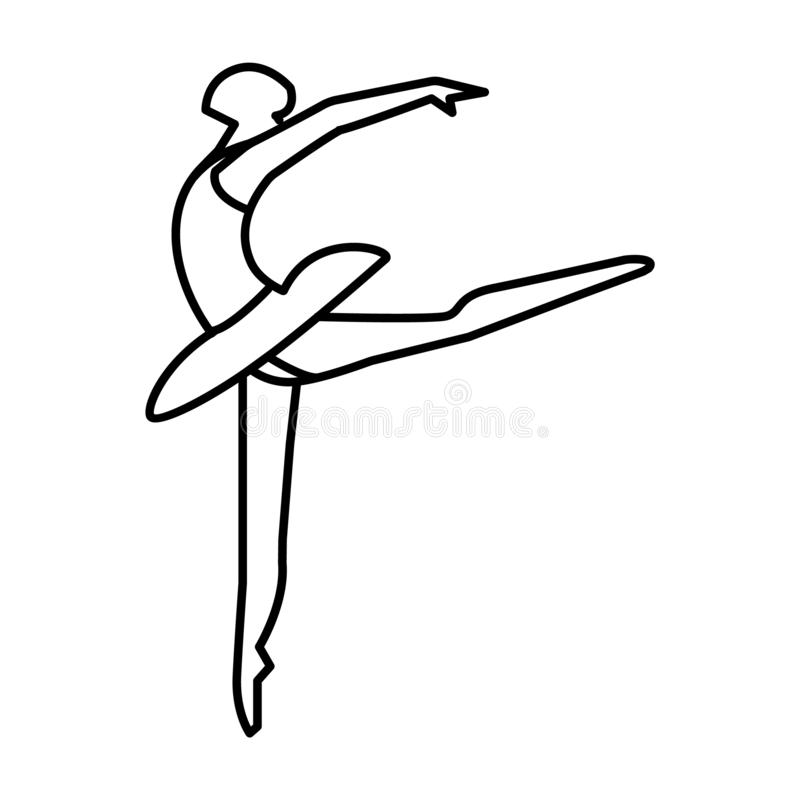 Balet, kobieta Ilustracyjna ikona ilustracji