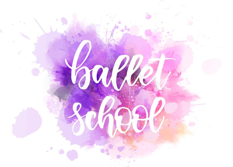 Baleta szkolny literowanie ilustracji