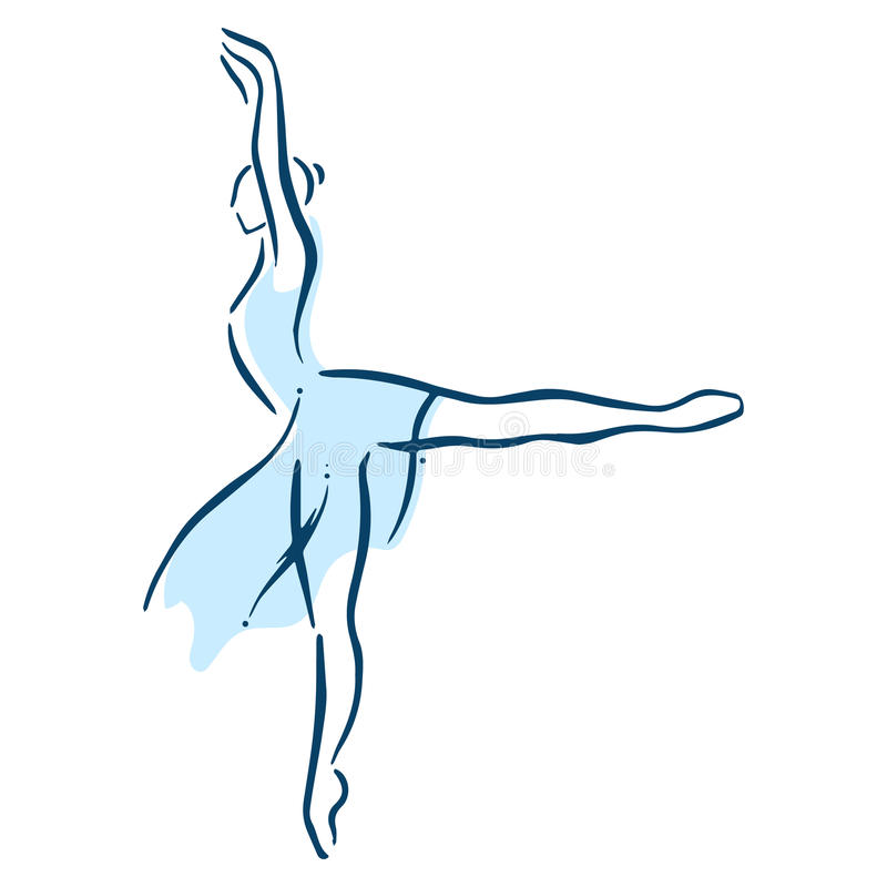 baletnicza piękna tancerza projekta ilustracja obrazy stock