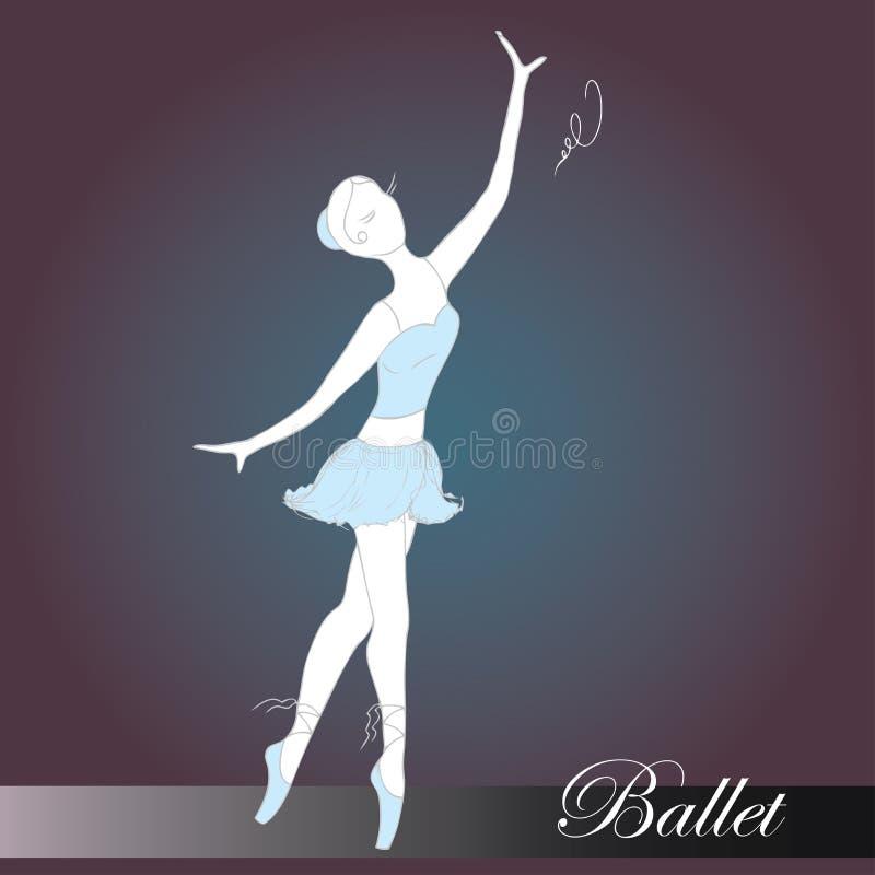 Download Baletnicza Piękna Tancerza Projekta Ilustracja Ilustracja Wektor - Ilustracja złożonej z atleta, balerina: 57672965