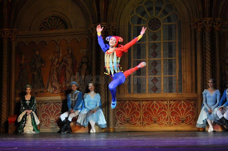 Baletniczy skok fotografia royalty free