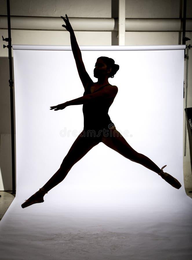 Baletniczy tancerz i gimnastyczka fotografia stock