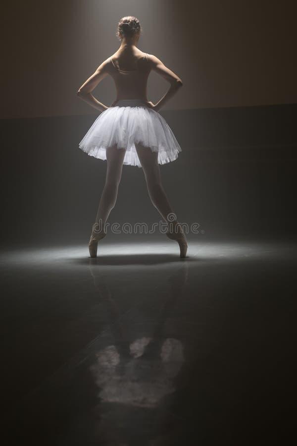 Baletniczy tancerz od behind zdjęcia royalty free