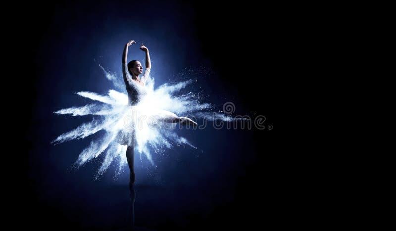 Baletniczy tancerz w skoku ilustracja wektor