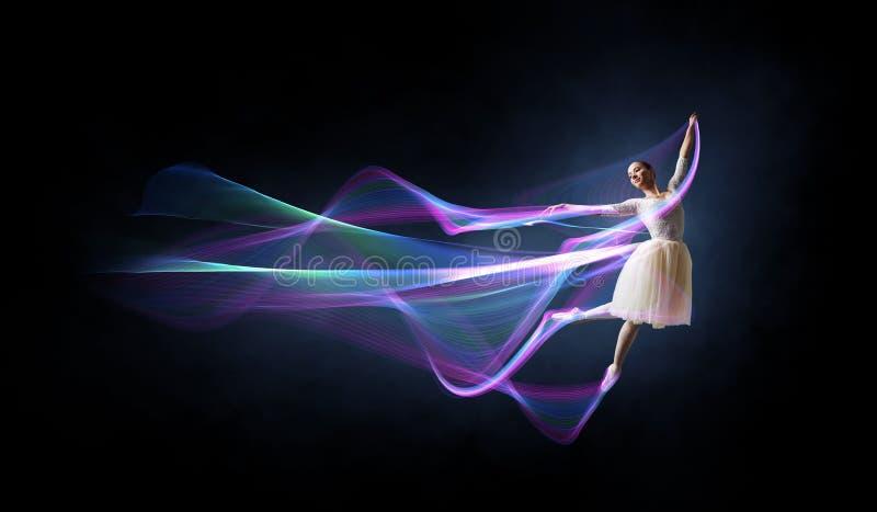 Baletniczy tancerz w skoku ilustracji