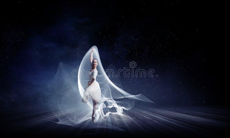 Baletniczy tancerz w skoku royalty ilustracja