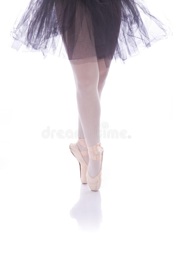 baletniczy tancerz wyszczególnia cieki obraz royalty free