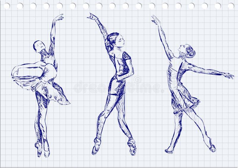 Baletniczy tancerze royalty ilustracja