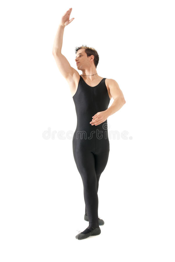 baletniczy taniec odizolowywający mężczyzna biel potomstwa obraz stock