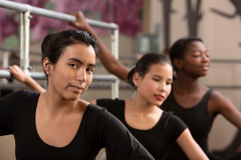baletniczy ucznie trzy zdjęcia royalty free