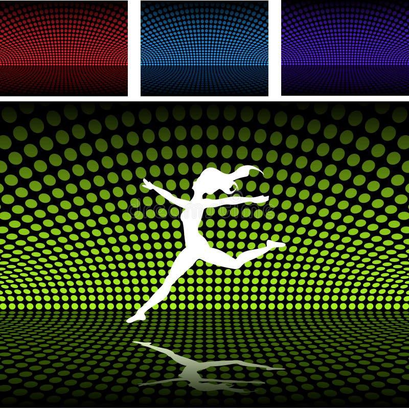 balett πλατφόρμα κοριτσιών disco διανυσματική απεικόνιση