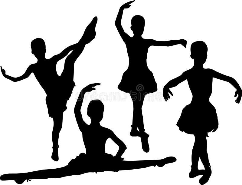 balett royaltyfri illustrationer
