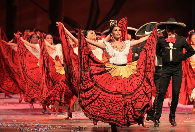 balett folkloric mexico royaltyfria bilder