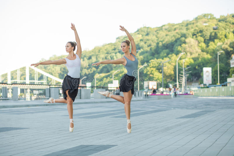 Balett i staden fotografering för bildbyråer