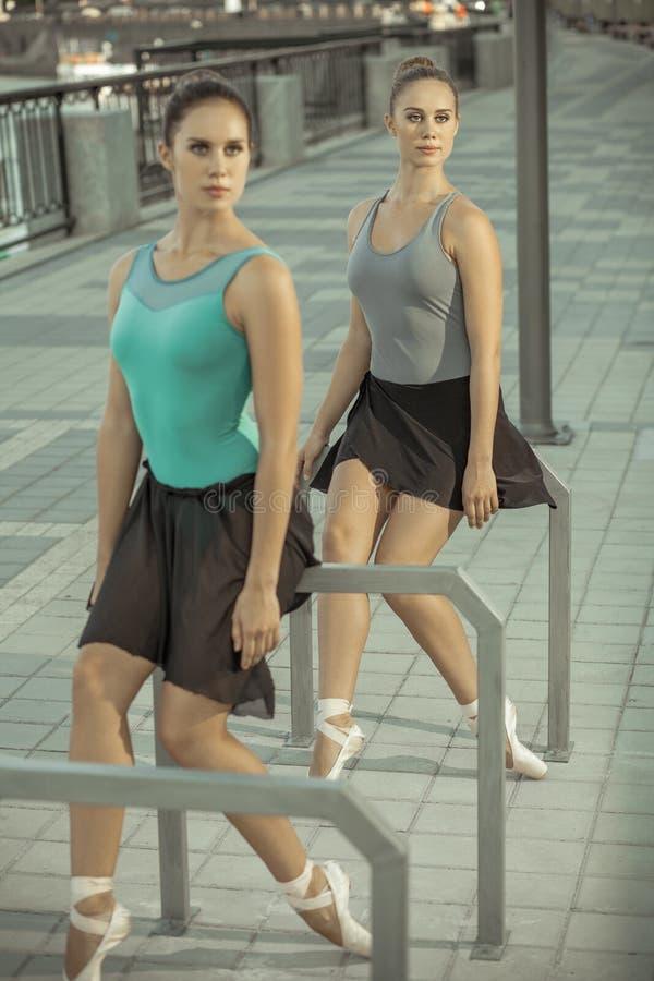 Balett i staden royaltyfri foto