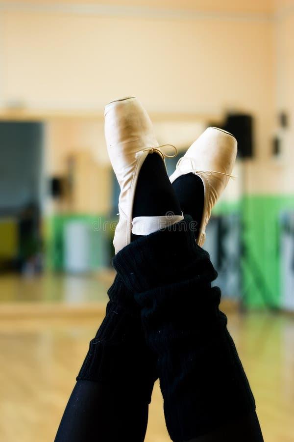 Balett skor royaltyfria foton
