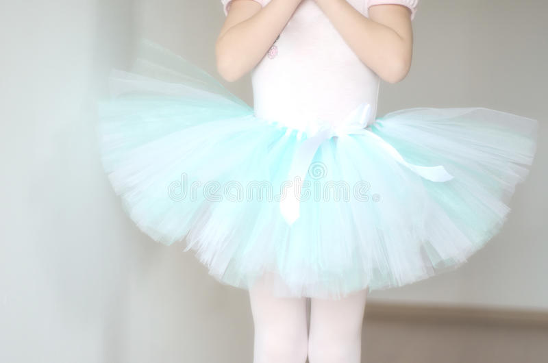Balettballerinakjolcloseup royaltyfria foton