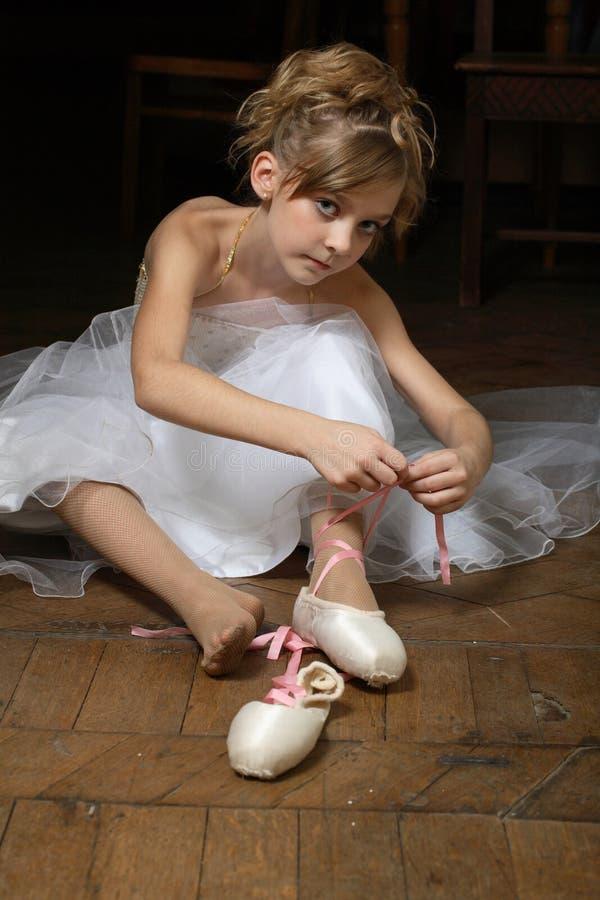 balettdansör little arkivbild