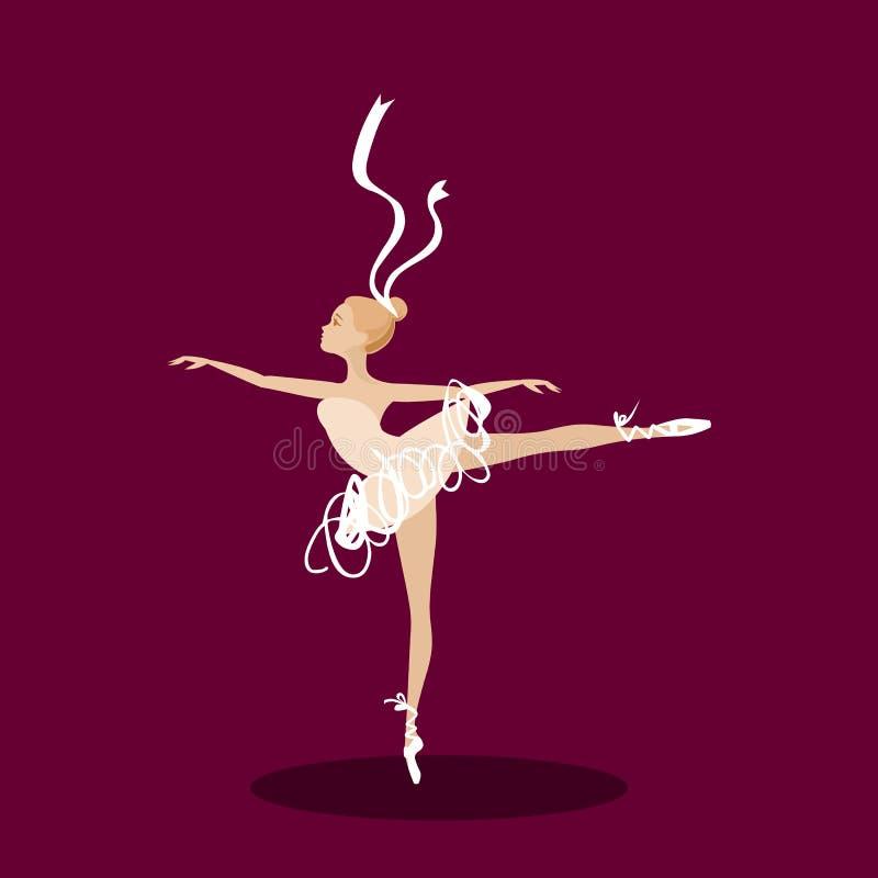 Balettdansör på etapp vektor illustrationer