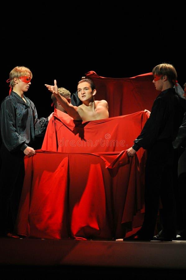 Balettdansörer i teater royaltyfria foton
