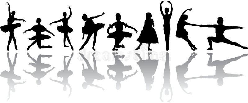 balettdans vektor illustrationer
