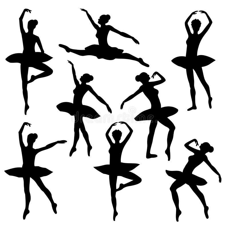 Balettkonturballerina vektor illustrationer