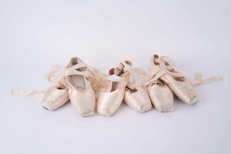 balettpointeskor royaltyfria foton
