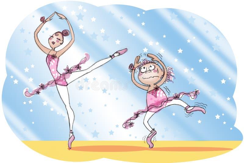 balettskola stock illustrationer