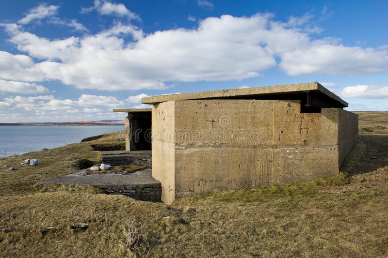 Scapa Flow WW2 Naval defences stock images