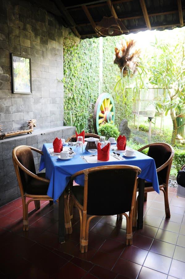 Bali-Artgaststätte lizenzfreie stockfotos