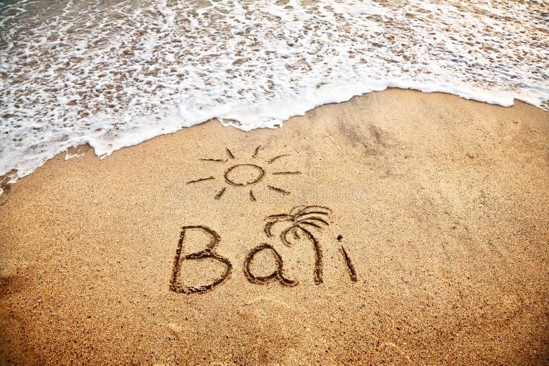 Bali auf dem Sand lizenzfreie stockfotografie