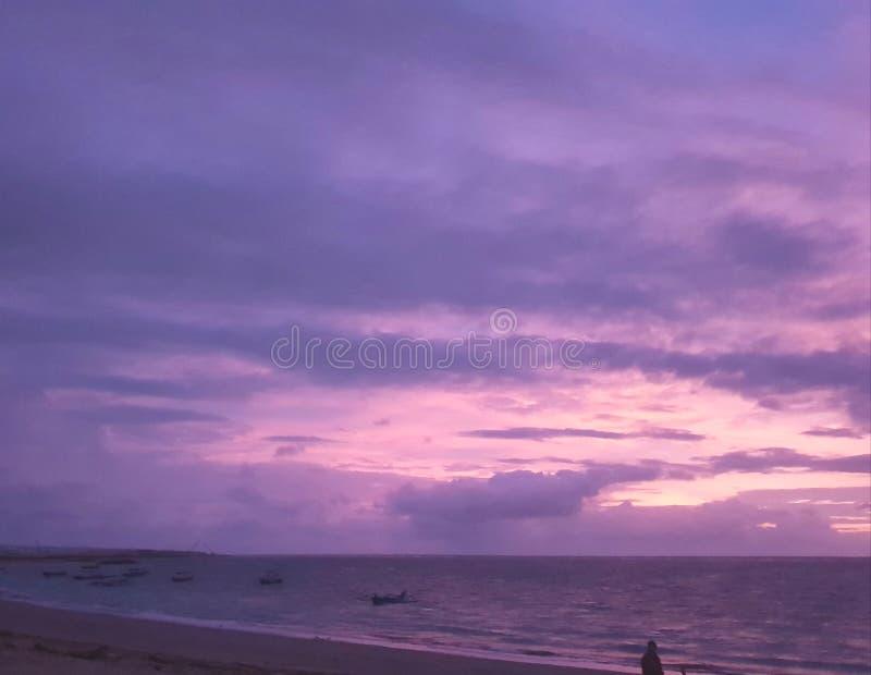 Bali avec la vue panormic du coucher du soleil photos stock
