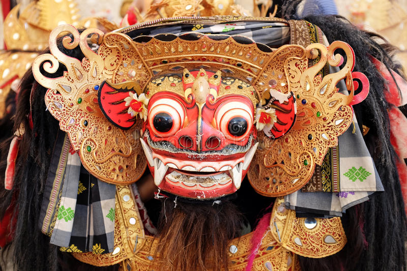 Bali Barong Lion Mask stock photos