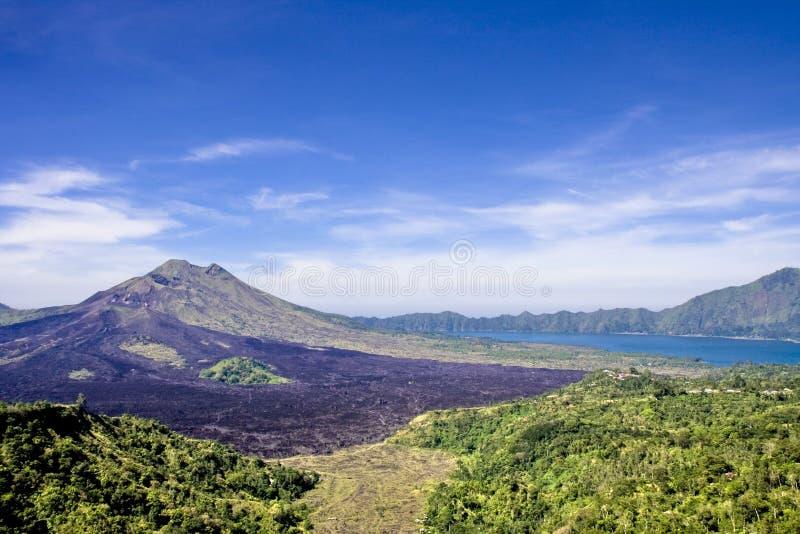 bali baturgunung indonesia arkivbild
