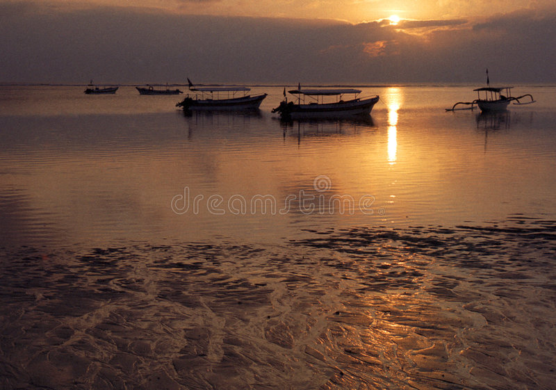 Download Bali Beach stock photo. Image of bali, clouds, boat, down - 183426