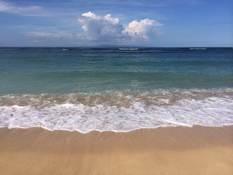 Bali beach at Nusa Dua. Bali beach waves at Nusa royalty free stock image
