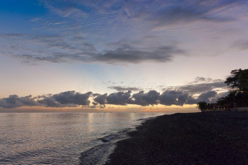 Bali Beach Sunrise royalty free stock photos