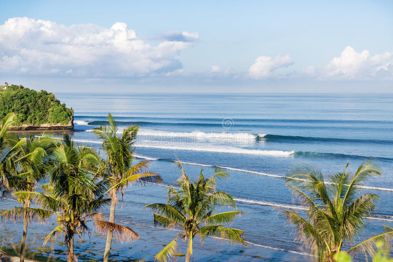 Bali beach and waves. Bali beach and beautiful waves, Indonesia royalty free stock images