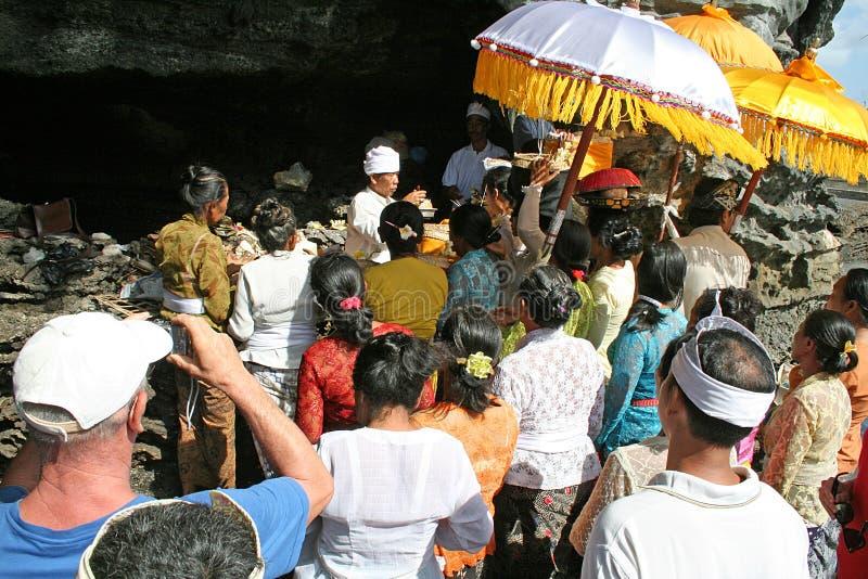 Bali ceremoni royaltyfri foto