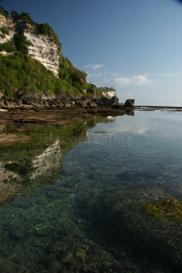 Bali coast near Ulu Watu royalty free stock photography