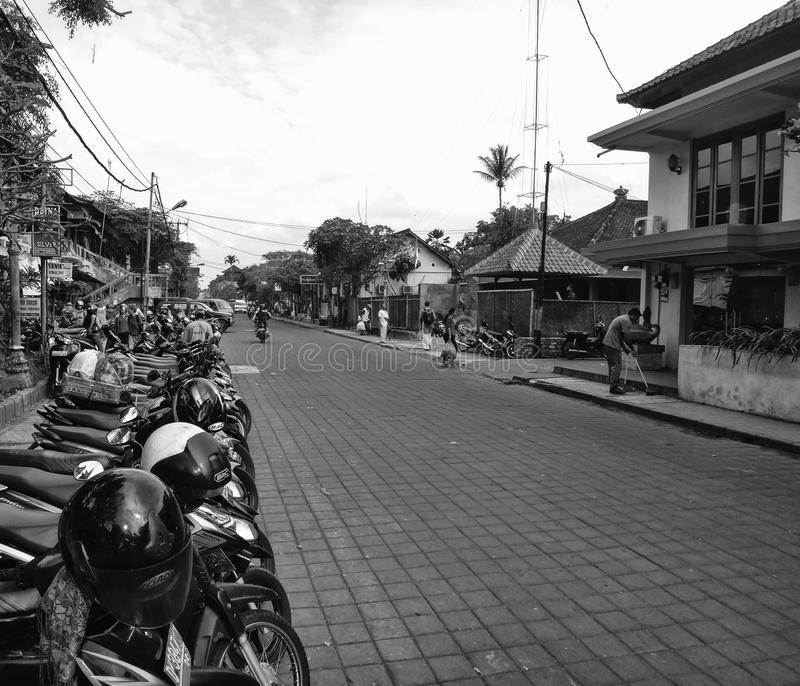 BALI Commercial activities take place at Ubud stock images