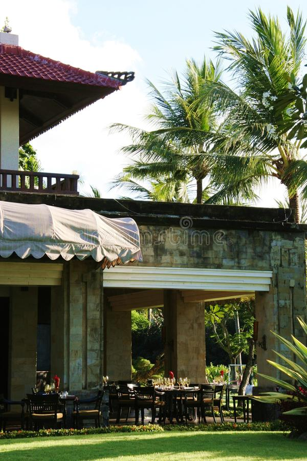 Download Bali Continental Backyard Cafe Stock Image - Image: 10744609