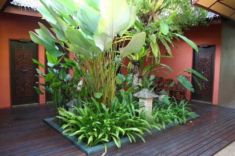 Bali courtyard stock photo