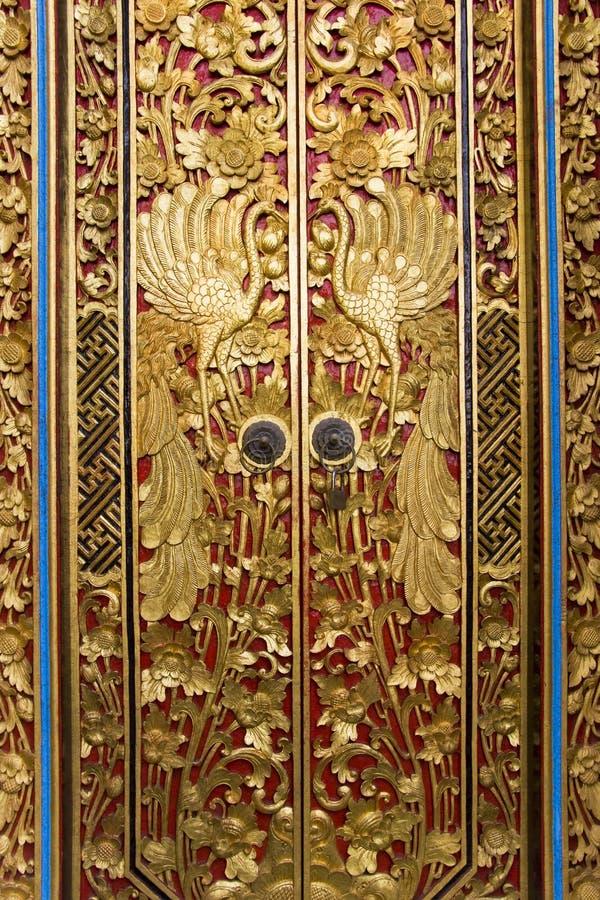bali cyzelowania drzwiowy Indonesia masceti pura fotografia royalty free