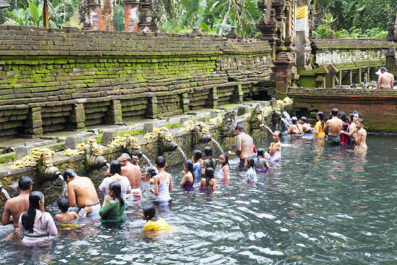 bali empul Indonesia modlitw tirtha zdjęcia royalty free